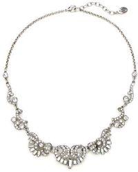 Ben-Amun - Deco Crystal Silver Necklace - Lyst