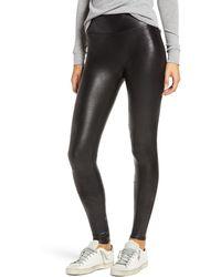 Spanx Flawless Faux Leather Leggings - Black