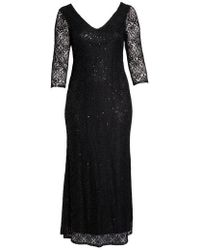 Marina - Sequin Lace A-line Gown - Lyst