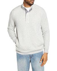 Tommy Bahama Via Norte Half Button Pullover - Grey