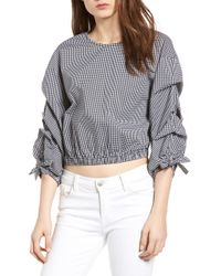 BISHOP AND YOUNG - Bishop + Young Ruched Sleeve Blouse - Lyst