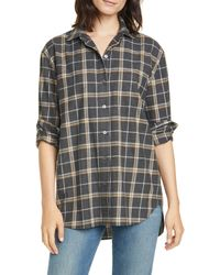 Jenni Kayne Plaid Flannel Shirt - Gray