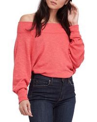 Free People Palisades Off The Shoulder Top - Red