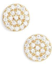 Nordstrom - Pave Disc Stud Earrings - Lyst