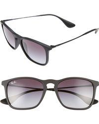 Ray-Ban Chris 54mm Gradient Lens Sunglasses - Black