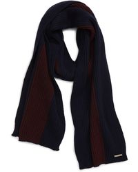 Ted Baker Wootton Colorblock Wool Blend Scarf - Blue