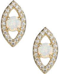 Melinda Maria - Evil Eye Stud Earrings - Lyst