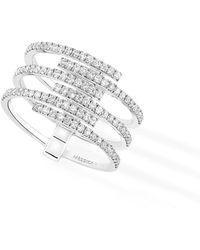 Messika - Gatsby Multirow Diamond Ring - Lyst