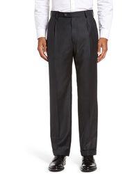 Zanella Bennett Straight Leg Pleated Dress Pants - Gray