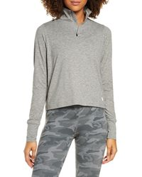 Vuori Crescent Performance Half-zip Crop Pullover - Gray