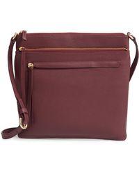 Nordstrom - Finn Leather Crossbody Bag - Burgundy - Lyst