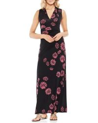 Vince Camuto - Chateau Floral Halter Maxi Dress - Lyst