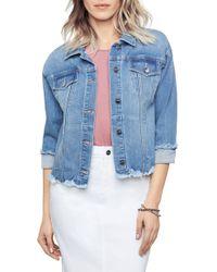 Sam Edelman The Jess Printed Denim Jacket - Blue