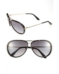 Tom Ford - 'cyrille' 63mm Aviator Sunglasses - Shiny Rose Gold/ Grey - Lyst