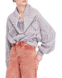 Free People - Nimbus Cloud Cowl Neck Sweater - Lyst