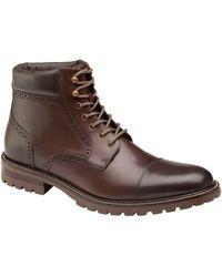 Johnston & Murphy Hobson Cap Toe Boot - Brown