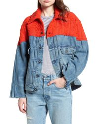 Levi's - Made & Crafted(tm) Native Mixed Media Trucker Jacket - Lyst