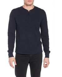 Rag & Bone Classic Slim Fit Henley - Blue