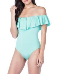 Trina Turk - Off The Shoulder One-piece Swimsuit - Lyst