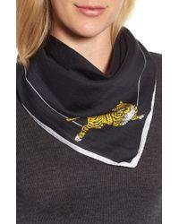 KENZO - Walking Tiger Bandana Cotton & Silk Scarf - Lyst