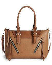 Sole Society - Girard Faux Leather Satchel - - Lyst