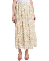 Vince Camuto Verona Garden Tiered Ruffle Skirt - Multicolor