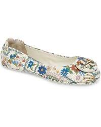 9e21907dfc6f9 Tory Burch Minnie Leopard-print Travel Sandals in Blue - Lyst