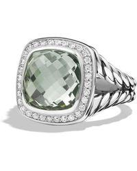 David Yurman - 'albion' Ring With Semiprecious Stone And Diamonds - Lyst