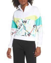 PUMA - X Shantell Martin Quarter Zip Pullover - Lyst