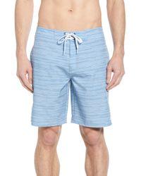Travis Mathew Hot Tub Time Board Shorts - Blue