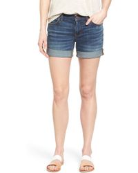 Caslon - Caslon Rolled Denim Boyfriend Shorts - Lyst