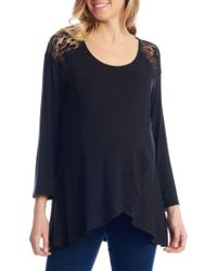 Everly Grey - Aaliyah Wrap Front Maternity/nursing Top - Lyst