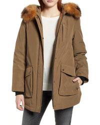 Pendleton - Dawson Genuine Fur Trim Down Coat - Lyst