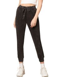 BB Dakota Fade Out Acid Wash Sweatpants - Black
