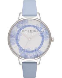 Olivia Burton - Tea Party Leather Strap Watch - Lyst