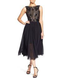 Dress the Population - Cathy Sequin Tea Length Dress - Lyst