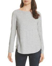 Eileen Fisher - Long Sleeve Organic Cotton Tee - Lyst