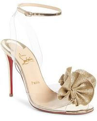 Christian Louboutin - Fossiliza Clear Ankle Strap Sandal - Lyst