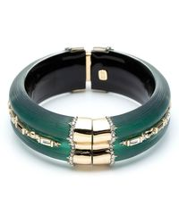 Alexis Bittar - Retro Gold Collection Crystal Baguette Hinge Bangle - Lyst