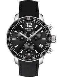 Tissot Quickster Chronograph Rubber Strap Watch - Black