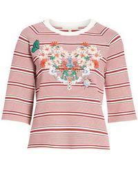 Maje - Marco Stripe Sweater - Lyst