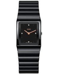 Rado - Ceramica Diamond Bracelet Watch - Lyst