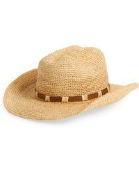 Frye Straw Cowboy Hat - Natural