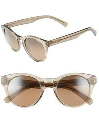 Maui Jim - Dragonfly 49mm Polarized Cat Eye Sunglasses - Translucent Taupe/ Bronze - Lyst