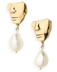 Faris - Portra Pearl Drop Earrings - Lyst