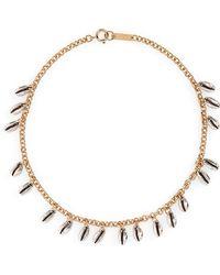 Isabel Marant Amer Shell Collar Necklace - Metallic