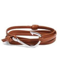 Miansai | Silver Hook Leather Bracelet | Lyst