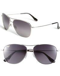 Maui Jim Cliff House 59mm Polarizedplus2 Metal Aviator Sunglasses - Metallic
