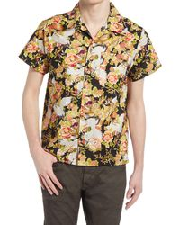 Naked & Famous - Naked & Famous Aloha Floral Short Sleeve Button-up Camp Shirt - Lyst