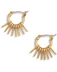 Madewell - Sunflare Hoop Earrings - Lyst